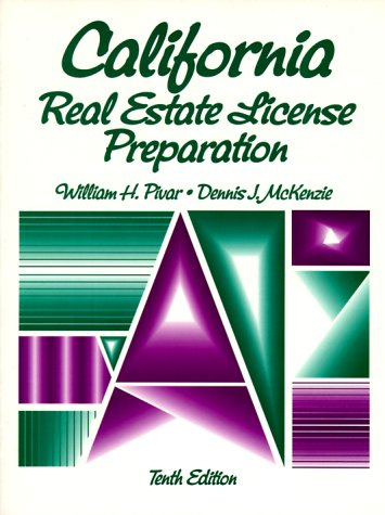 9780135786260: California Real Estate: License Preparation Text