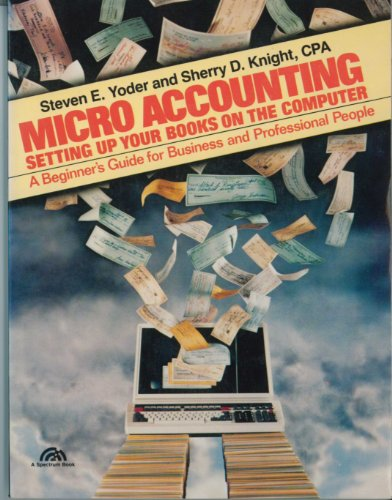 9780135800850: Micro-Accounting: Setting Up Your Books on the Computer