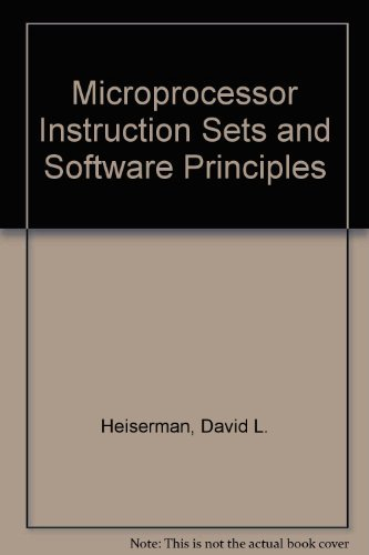 9780135810903: Microprocessor Instruction Sets and Software Principles