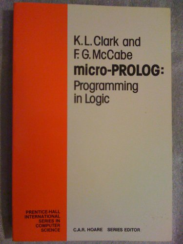 9780135812648: Micro-Prolog: Programming in Logic