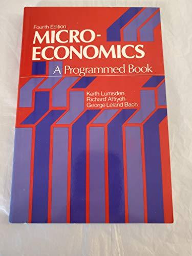 9780135813973: Microeconomics: A Programmed Book