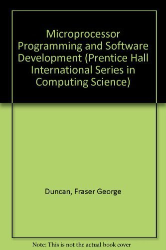9780135814055: Microprocessor Programming and Software Development (Prentice Hall International Series in Computing Science)