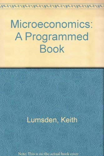 9780135814390: Microeconomics: A Programmed Book