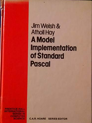 9780135864548: A Model Implementation of Standard Pascal (Prentice-Hall International Series in Computer Science)