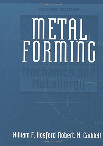 Metal Forming: Mechanics and Metallurgy (2nd Edition): Caddell, Robert M.,