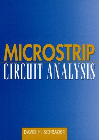 9780135885345: Microstrip Circuit Analysis