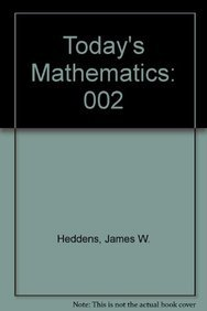 9780135890110: Today's Mathematics