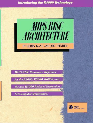 9780135904725: MIPS RISC Architecture (2nd Edition)