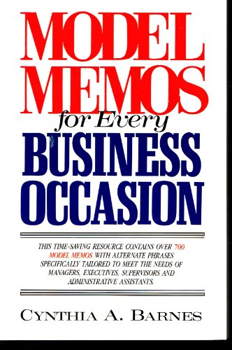 9780135904800: Model Memos for Every Business Occasion