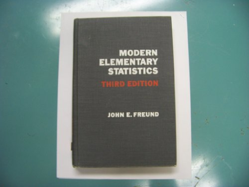 9780135934593: Modern elementary statistics (Prentice-Hall mathematics series)