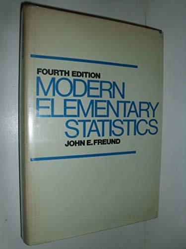 9780135934753: Modern elementary statistics