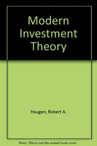 9780135947975: Modern Investment Theory