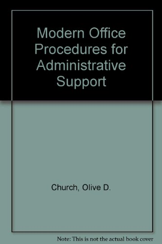 9780135952573: Modern Office Procedures for Administrative Support
