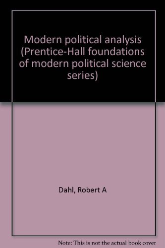 9780135969731: Modern political analysis (Prentice-Hall foundations of modern political science series)