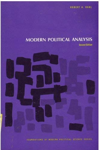 9780135970218: Modern Political Analysis (Foundations of Modern Political Science)