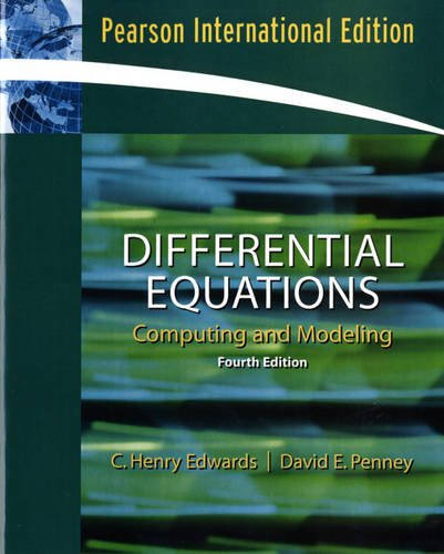 9780136000389: Differential Equations Computing and Modeling