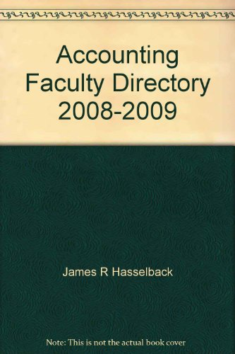 9780136001867: Accounting Faculty Directory 2008-2009