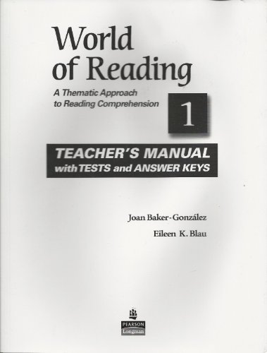World of Reading: Teacher's Manual, Vol. 1 (0136002102) by Joan Baker-Gonzalez; Eileen K. Blau