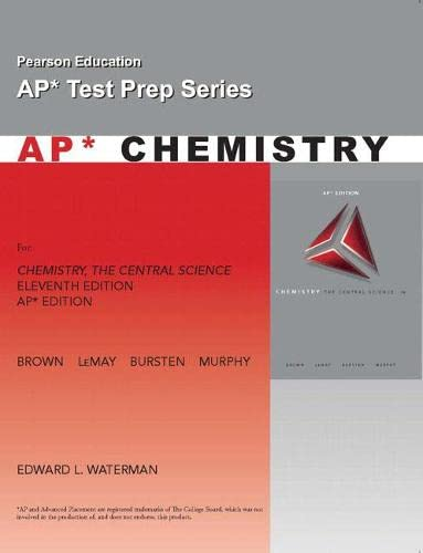 9780136002840: AP Exam Workbook for Chemistry: The Central Science (Pearson Education AP Test Prep)