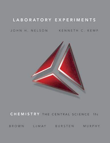 9780136002857: Laboratory Experiments for Chemistry: The Central Science (11th Edition)