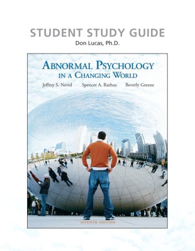 9780136003144: Study Guide for Abnormal Psychology in a Changing World