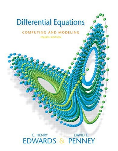 9780136004387: Differential Equations Computing and Modeling (4th Edition)