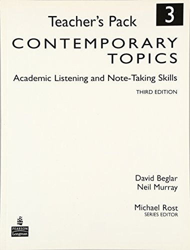 9780136005131: Contemporary Topics 3: Academic Listening and Note-Taking Skills, Teacher's Pack