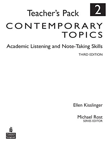9780136005155: Contemporary Topics 2: Academic Listening and Note-Taking Skills, Teacher's Pack (3rd Edition)