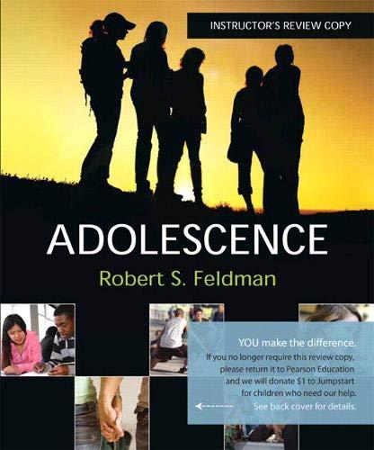 9780136005353: Adolescence : Instrutor's Review Copy