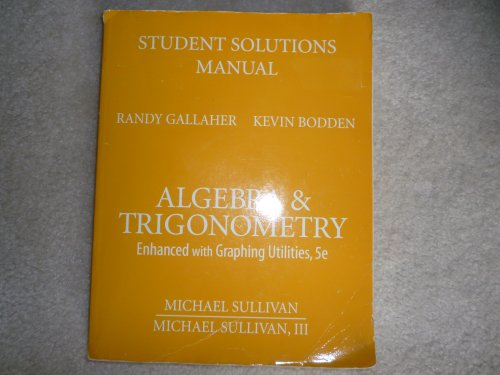 9780136005414: Student Solutions Manual for Algebra and Trigonometry: Enhanced with Graphing Utilities