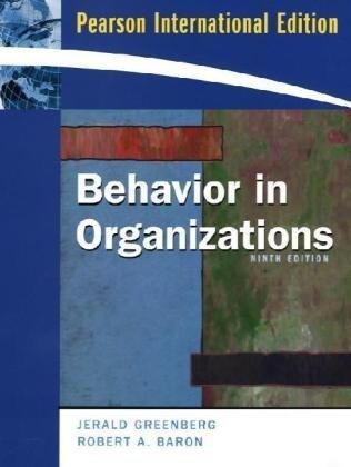 9780136006879: Behavior in Organizations