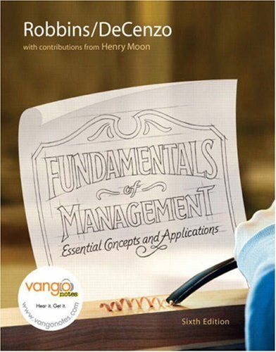 9780136007104: Fundamentals of Management