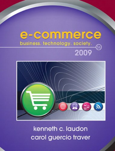 E-Commerce 2009: Kenneth C. Laudon;