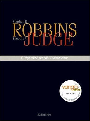 Organizational Behavior: Timothy A. Judge;