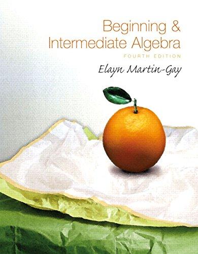 9780136007319: Beginning & Intermediate Algebra, 4th Edition