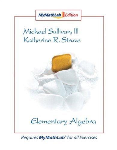 9780136007388: Elementary Algebra MyLab Math Edition: MyMathLab Edition