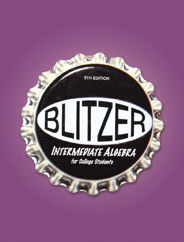 9780136007623: Intermediate Algebra for College Students (Blitzer Developmental Algebra)