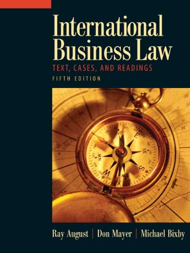 9780136008644: International Business Law: Text, Cases, and Readings