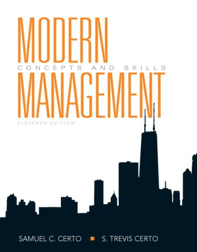9780136010166: Modern Management: Concepts and Skills (11th Edition)