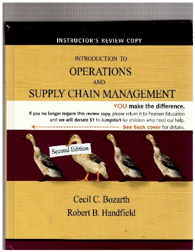 Introduction to Operations and Supply Chain Management: Cecil C. Bozarth