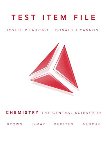 9780136012511: Chemistry: The Central Science 11e AP * EditionTest Item File