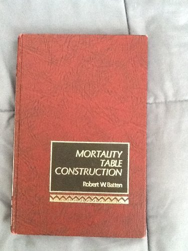 Mortality Table Construction: Batten, Robert W.