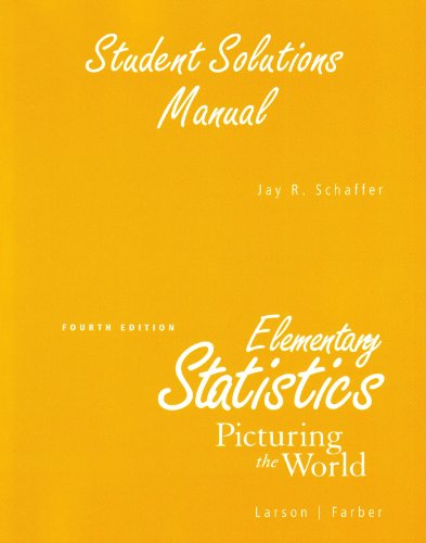 9780136013075: Student Solutions Manual for Elementary Statistics: Picturing the World