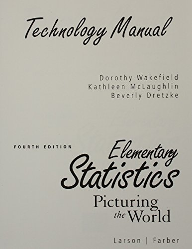9780136013082: Technology Manual : Elementary Statistics Picturing the World