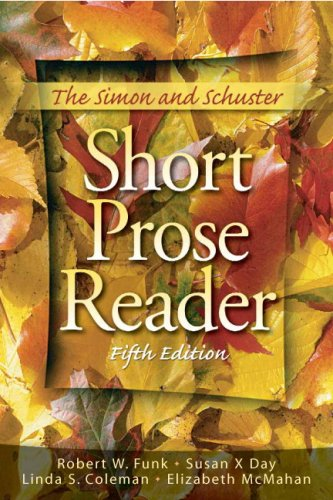 9780136014553: The Simon and Schuster Short Prose Reader (5th Edition)