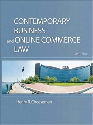 9780136015000: Contemporary Business and Online Commerce Law (6th Edition)