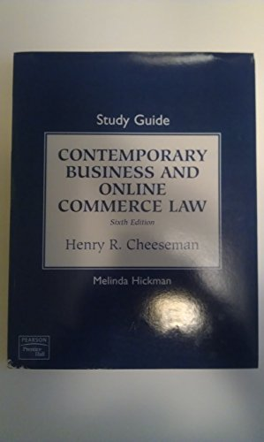 9780136015031: Study Guide for Contemporary Business and Online Commerce Law