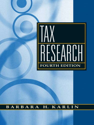 9780136015314: Tax Research
