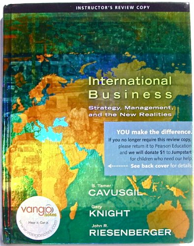 9780136015628: International Business Strategy, Management and the New Realities Instructor's Review Copy
