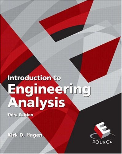 9780136017721: Introduction to Engineering Analysis (3rd Edition)